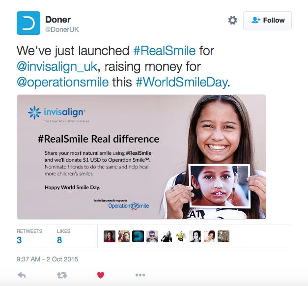 Invisalign RealSmile Campaign Tweet
