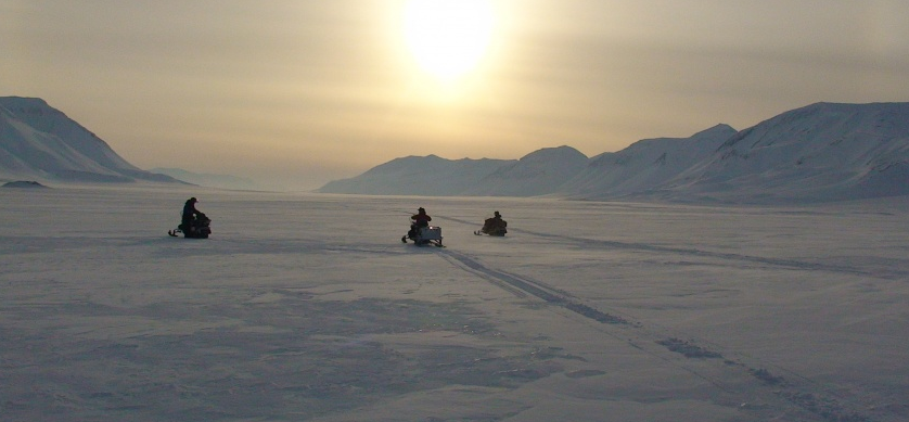 Alaska / Snowmobiling the Frozen Planet